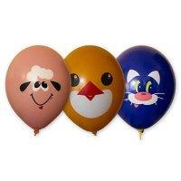 Воздушные шары с гелием Курочка, кот, Овечка 36см