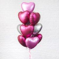 Композиция из воздушных шаров «Облако из Сердец» №178