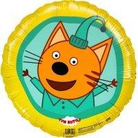 Шар фигура круг, Три кота, Жёлтый, Компот, 46см