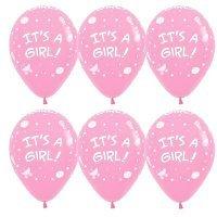Воздушные шары с гелием шары с рисунком «It's A Girl!»