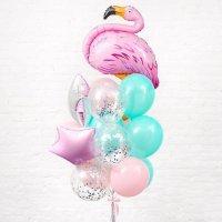 Композиция из воздушных шаров «Фонтан Фламинго для Фотосессии» №160