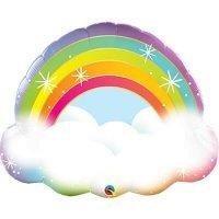 Шар фольгированный радуга в облаках 81см