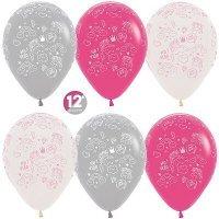 Воздушные шары с гелием Сказка для принцессы, единорог 30см