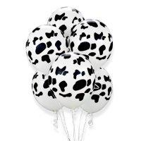 Воздушные шары с гелием с рисунком «Коровка»