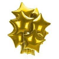 Облако из шаров «Золотые звёзды для фотосессии» 12 шт