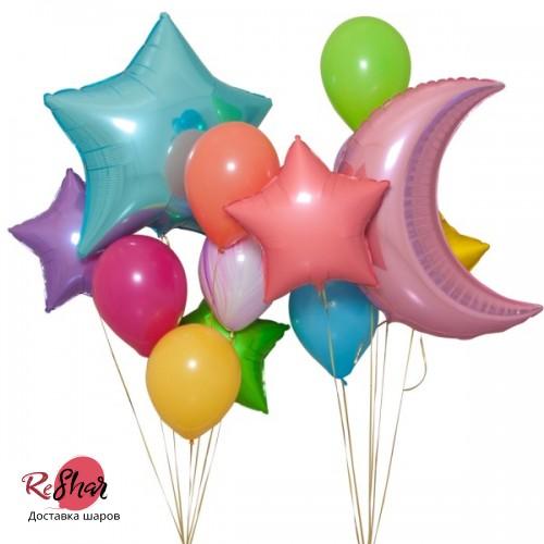 Композиция из воздушных шаров «Парад шариков» №147