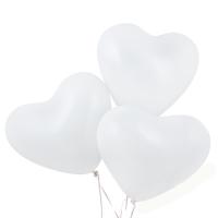 Латексный шар с гелием сердце белый