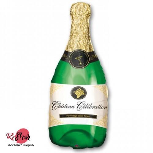 Воздушный шар с гелием бутылка шампанского 91 см, новый год (ЗТ)