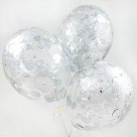 Гелиевый шар с конфетти блестками, 30 см №7