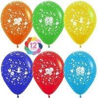 Воздушные шары с гелием с рисунком «Ассорти на выписку для малыша»