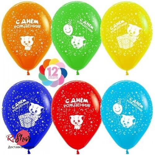 Гелиевые шарики «Ассорти С Днём Рождения» Котёнок