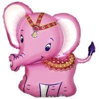 Фигура из Фольги «Слонёнок» Розовый (86см.)