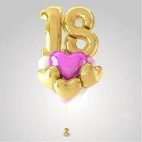 Фольгированная композиция из воздушных шаров «На день рождения» №189 (Цифра на выбор)