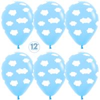Воздушные шары с гелием облака светло-голубой, 30см