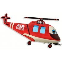 Фигура из Фольги «Вертолёт» красный (97см.)
