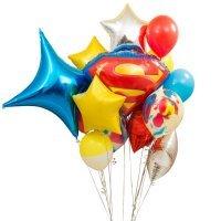Композиция из воздушных шаров «Супермен» №141