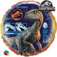 Фольгированный шар круг Парк Юрского Периода Динозавр 46см
