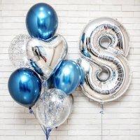 Фонтан из шаров Альмааз с цифрой на выбор