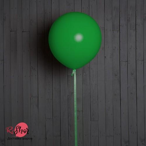 Большие шары с гелием 50 см, зеленые