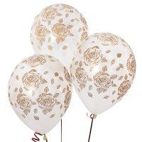 Воздушные шары с гелием с рисунком «Элегантные розы»