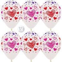 Гелиевые шары с рисунком «Воздушные сердца»
