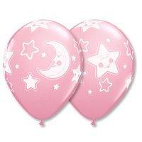 Воздушные шары с гелием для девочки на выписку или на годик 30см