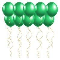 Воздушные шары под потолок с гелием Зелёные «Пастель»