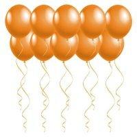 Шары под потолок с гелием Оранжевые «Пастель»