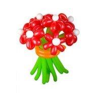 Букет цветов из шариков «Красный акцент»