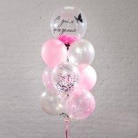 Композиция из шаров «С днём рождения девочка»