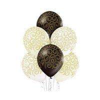 Воздушные шары с гелием узоры Барокко, свадьба, юбилей 36см
