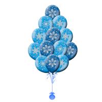 Воздушные шары с гелием с рисунком «Снежинки»