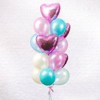 Композиция из воздушных шаров «Сердца Фуше» №87