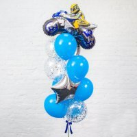 Композиция из воздушных шаров «Мото» №41