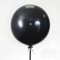 Шар гигант «№12» Чёрный 61см