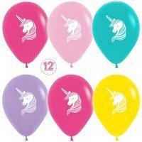 Воздушные шары с гелием с рисунком «Единороги Ассорти»