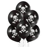 Воздушные шары с гелием череп и кости пираты, хэллоуин 36см