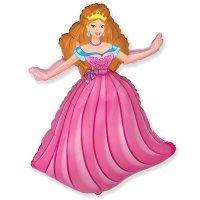 Фигура из Фольги «Принцесса в розовом платье» (99см.)