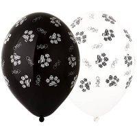 Воздушные шары с гелием котики лапки, ассорти 36см