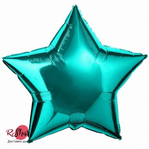 Фольгированный шар звезда «Бирюзовый» (46см.)