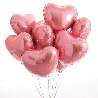 Композиция из шаров «Розовый Блеск» Сердце 9 шт. №182