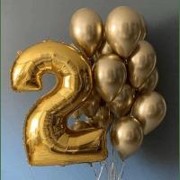 """Композиция из Шариков на день рождения """"Золотце"""" (Цифра на выбор)"""