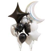 Композиция из воздушных шаров «Чёрный стиль» №142