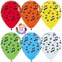 Гелиевые шары с рисунком «Музыкальное ассорти»