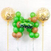Композиция из воздушных шаров «Танк» №114