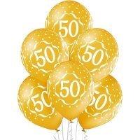 Воздушные шары с гелием с цифрой 50 лет, юбилей 36см