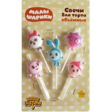 Свечи для торта Малышарики, 5шт