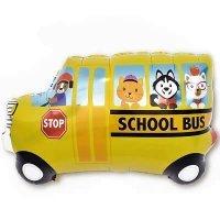 Шар (33''/84 см) Фигура, Школьный автобус