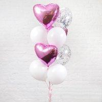 Композиция из воздушных шаров «Сердечный повод» №76