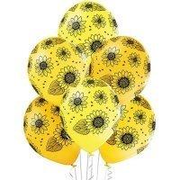 Воздушные шары с гелием яркие подсолнухи 36см